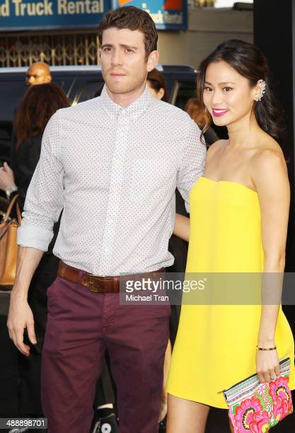 Jamie Chung and Bryan Greenberg arrive at the Los Angeles premiere of 'Godzilla' held at Dolby Theatre on May 8 2014 in Hollywood California