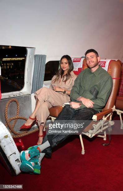 Jamie Chung and Bryan Greenberg attend as DIESEL celebrates summer in the city at TWA Hotel on June 24, 2021 in New York City.