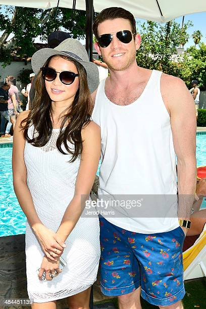 Jamie Chung and Bryan Greenberg attend the GUESS Hotel at the Viceroy Palm Springs on April 12 2014 in Palm Springs California