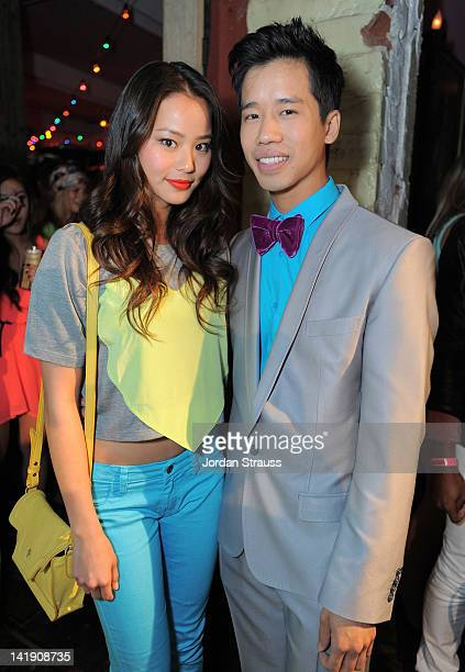 Jamie Chung and Jared Eng attend Just Jared's 30th at Pink Taco on March 23 2012 in Los Angeles California