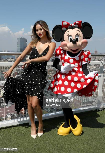 Jamie Chung and Minnie Mouse attend the #MinnieStyle Suite celbrating Minnie Mouse's 90th Anniversary at Nomo Soho Hotel on September 5 2018 in New...