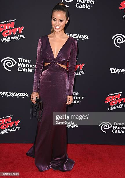 Jamie Chung arrives at the Sin City A Dame To Kill For Los Angeles Premiere at TCL Chinese Theatre on August 19 2014 in Hollywood California