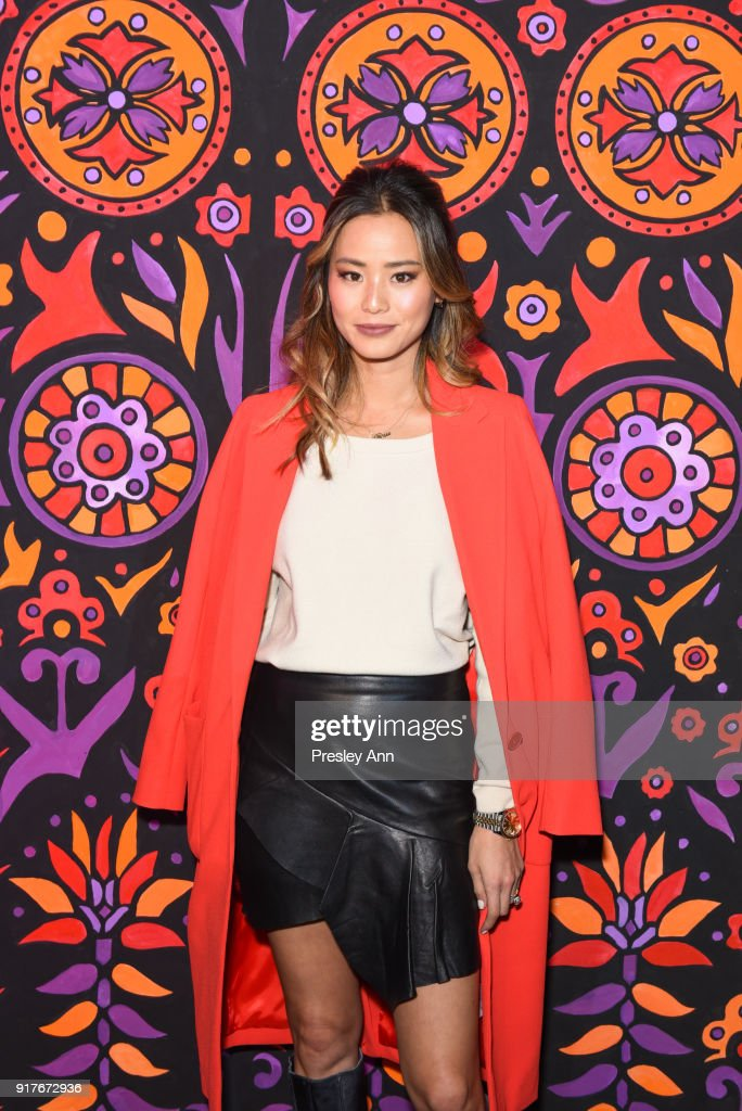 Jamie Chung attends Anna Sui - Front Row - February 2018 - New York Fashion Week: at Spring Studios on February 12, 2018 in New York City.