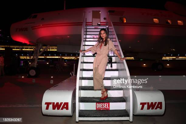 Jamie Chung attends as DIESEL celebrates summer in the city at TWA Hotel on June 24, 2021 in New York City.
