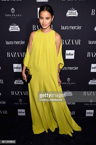 "Jamie Chung attends Harper's Bazaar's celebration of ""ICONS By Carine Roitfeld"" presented by Infor, Laura Mercier, and Stella Artois at The Plaza..."