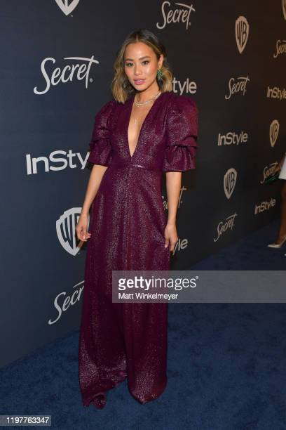 Jamie Chung attends The 2020 InStyle And Warner Bros. 77th Annual Golden Globe Awards Post-Party at The Beverly Hilton Hotel on January 05, 2020 in...