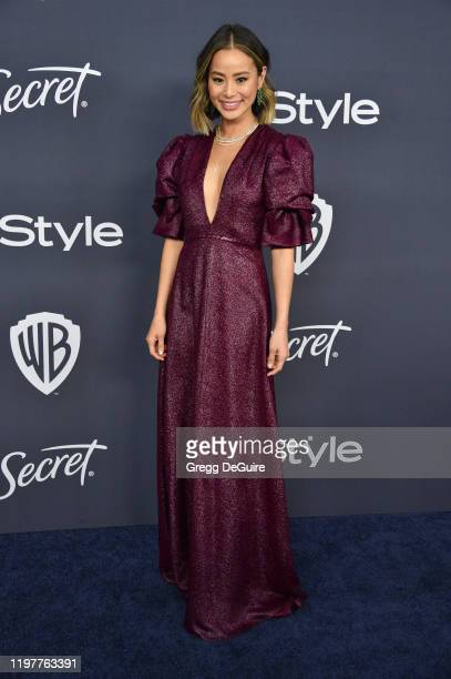 Jamie Chung attends the 21st Annual Warner Bros. And InStyle Golden Globe After Party at The Beverly Hilton Hotel on January 05, 2020 in Beverly...