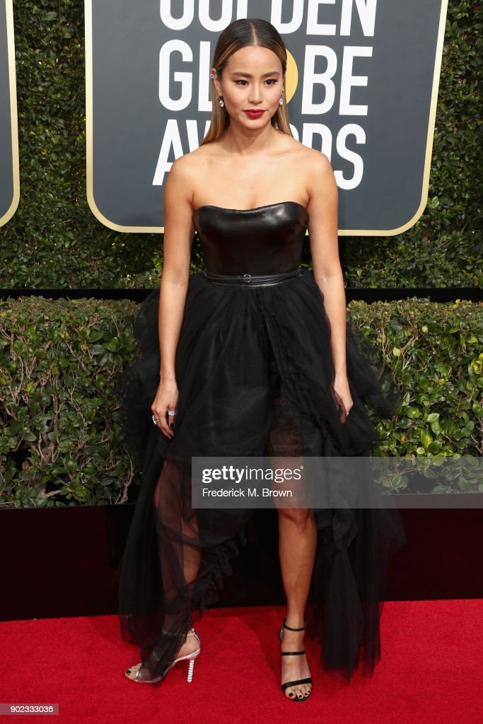 Jamie Chung attends The 75th Annual Golden Globe Awards at The Beverly Hilton Hotel on January 7, 2018 in Beverly Hills, California.