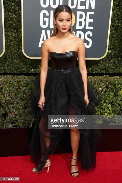Jamie Chung attends The 75th Annual Golden Globe Awards at The Beverly Hilton Hotel on January 7 2018 in Beverly Hills California