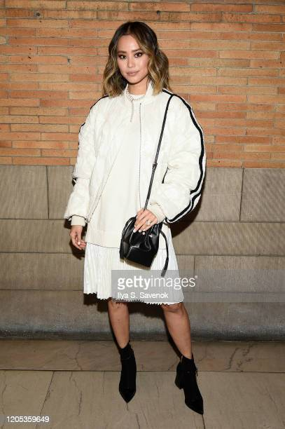Jamie Chung attends the ADEAM Fall | Winter 2020 SHOW at the High Line Hotel on February 10 2020 in New York City