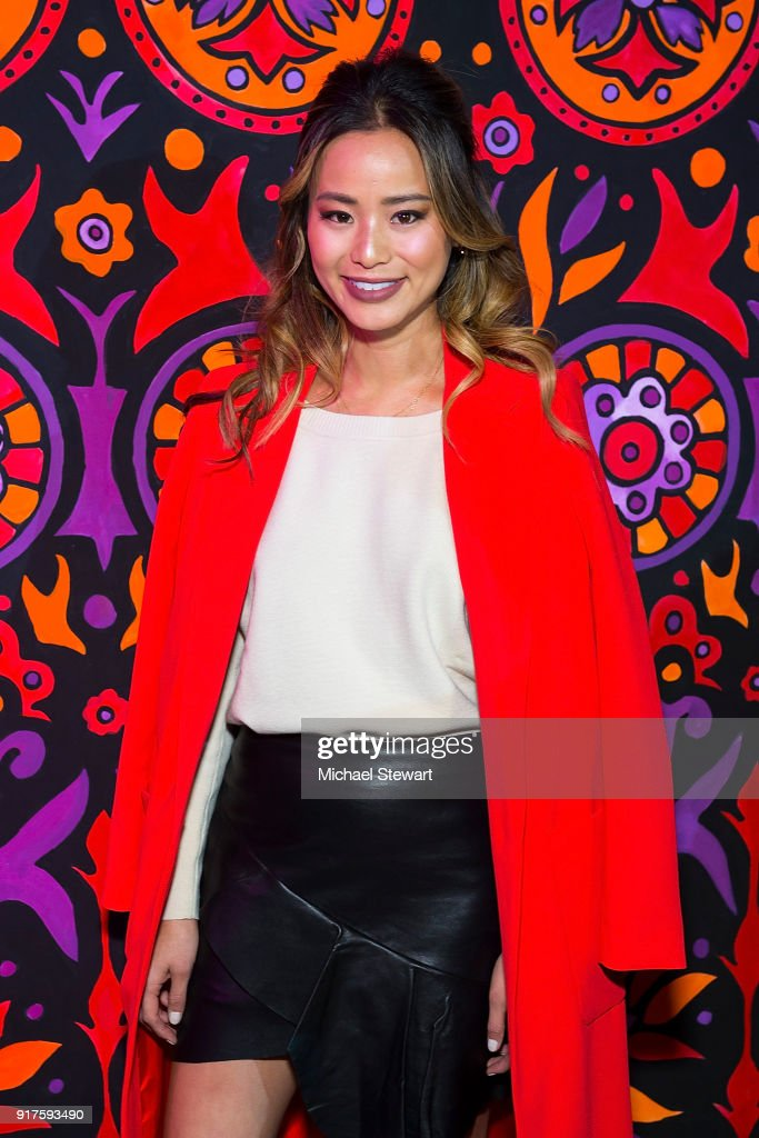 Jamie Chung attends the Ann Sui fashion show during New York Fashion Week at Gallery I at Spring Studios on February 12, 2018 in New York City.