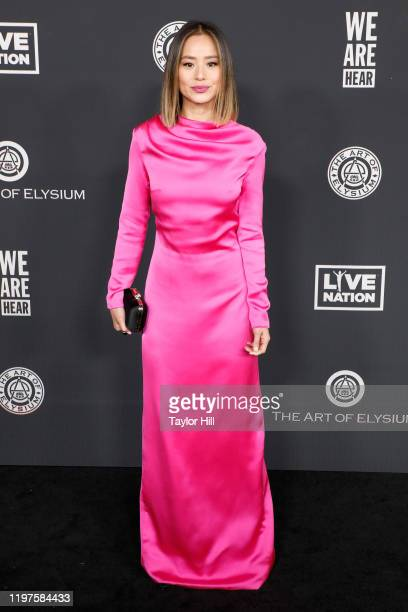 Jamie Chung attends The Art of Elysium's 13th Annual Heaven Gala at Hollywood Palladium on January 04, 2020 in Los Angeles, California.