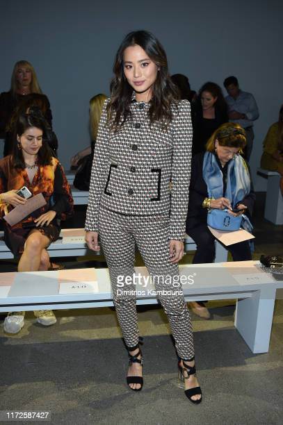 Jamie Chung attends the Ellie Tahari front row during New York Fashion Week: The Showsat Gallery II at Spring Studios on September 05, 2019 in New...