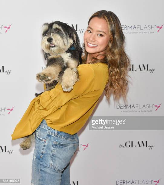 Jamie Chung attends The Glam App x DERMAFLASH Host PreOscars Suite at Peninsula Hotel on February 24 2017 in Beverly Hills California
