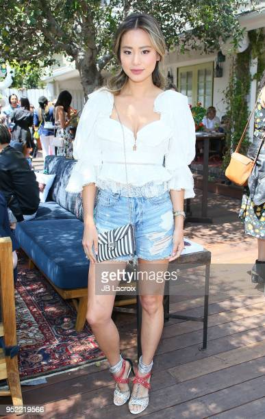 Jamie Chung attends the Henri Bendel Surf Sport 2018 Collection Launch on April 27, 2018 in Los Angeles, California.