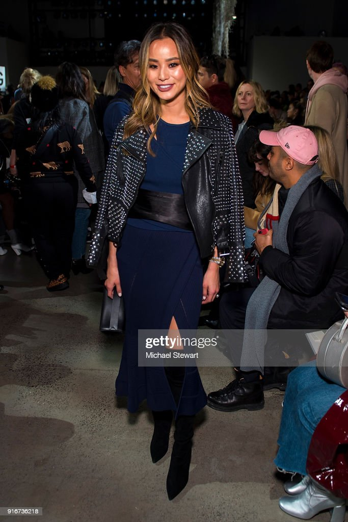 Jamie Chung attends the Jonathan Simkhai fashion show during New York Fashion Week at Gallery I at Spring Studios on February 10, 2018 in New York City.