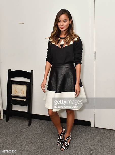 Jamie Chung attends the Karigam show during Spring 2016 New York Fashion Week at The Gallery Skylight at Clarkson Sq on September 11 2015 in New York...