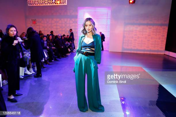 Jamie Chung attends the Noon By Noor Front Row during New York Fashion Week: The Shows at Gallery II at Spring Studios on February 11, 2020 in New...