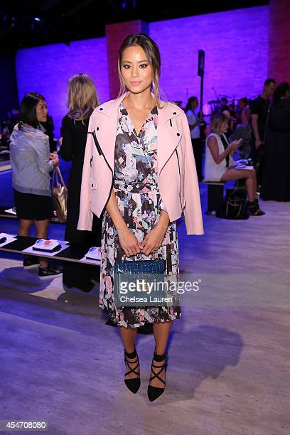 Jamie Chung attends the Rebecca Minkoff fashion show during MercedesBenz Fashion Week Spring 2015 at The Pavilion at Lincoln Center on September 5...