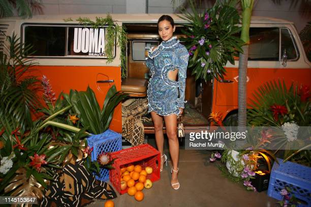 Jamie Chung attends UOMA Beauty Launch Event at NeueHouse Hollywood on April 25, 2019 in Los Angeles, California.