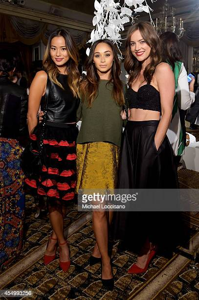 Jamie Chung Cara Santana and Jessica Stroup attend the alice olivia by Stacey Bendet Spring 2015 NYFW Presentation at The Pierre Hotel on September 8...