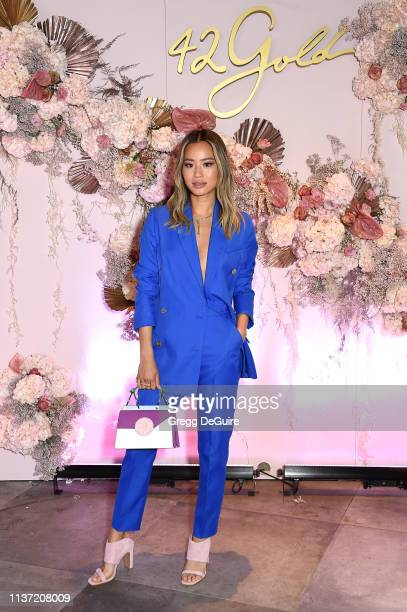 Jamie Chung celebrates her 42 Gold Collection at LaPeer Hotel on March 20, 2019 in West Hollywood, California.