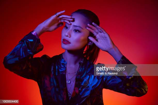 Jamie Chung from Fox's 'The Gifted' poses for a portrait at the Getty Images Portrait Studio powered by Pizza Hut at San Diego 2018 Comic Con at...
