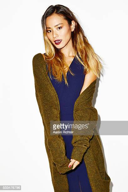 87db173ad00563 Jamie Chung is photographed for Aritzia  FallForUs in 2014 in Los Angeles  California PUBLISHED IMAGE