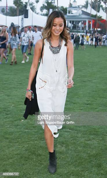 Jamie Chung is seen at Coachella Valley Music and Arts Festival at The Empire Polo Club on April 10 2015 in Indio California