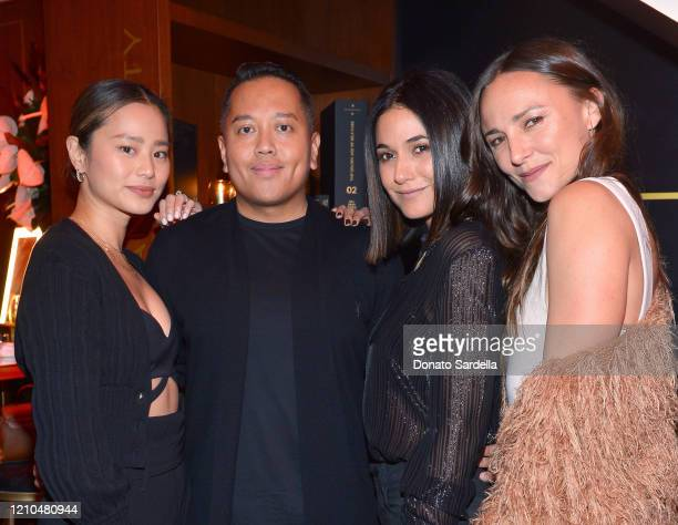 Jamie Chung, Rembrandt Flores, Emmanuelle Chriqui and Briana Evigan attend the American Vanity Skincare Launch Party at Sunset Tower on March 04,...
