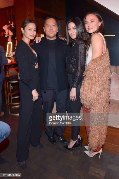 Jamie Chung Rembrandt Flores Emmanuelle Chriqui and Briana Evigan attend the American Vanity Skincare Launch Party at Sunset Tower on March 04 2020...