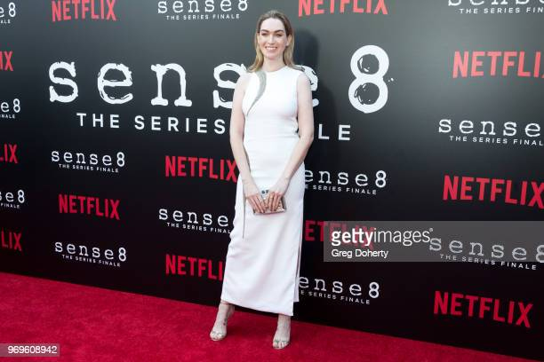 Jamie Clayton attends Netflix's Sense8 Series Finale Fan Screening at ArcLight Hollywood on June 7 2018 in Hollywood California