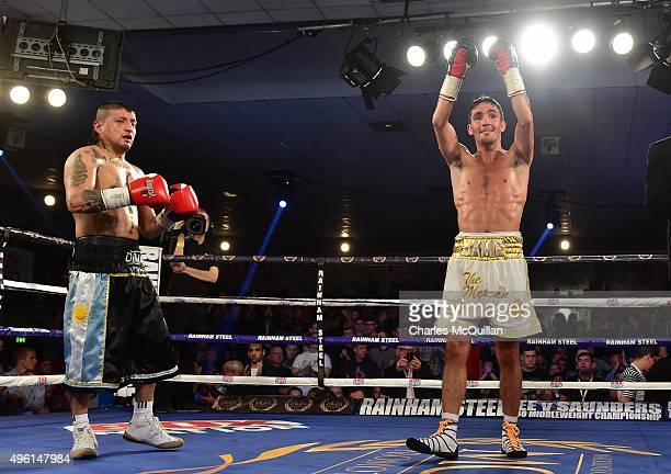 Jamie Conlan victorious after his superflyweight bout with Adrian Dimas Garzon on The Second Coming boxing bill at the National Stadium on November 7...