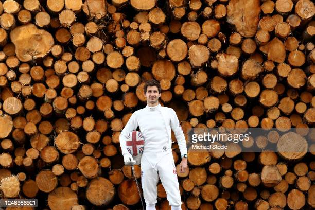 Jamie Cooke of Team GB Modern Pentathlon 2018 World Champion and 2019 European Champion poses for a portrait on June 05 2020 in Blagdon England