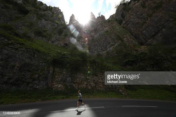 Jamie Cooke of Team GB Modern Pentathlon 2018 World Champion and 2019 European Champion during a run on June 05 2020 in Cheddar Gorge England