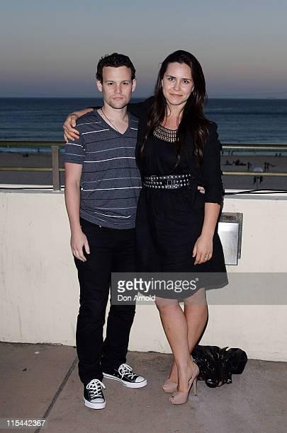 Jamie Croft and Saskia Burmeister attend the launch of Flickerfest 2010, the original Bondi short film festival, at the Bondi Pavilion, Bondi Beach...