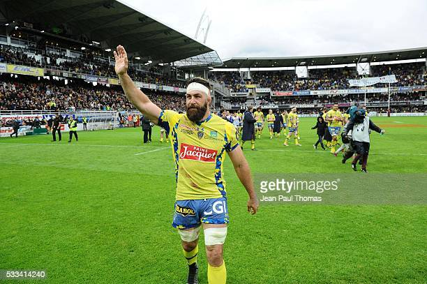 Jamie CUDMORE of Clermont during the French Top 14 rugby union match between Clermont v Paris at Stade Marcel Michelin on May 22 2016 in...
