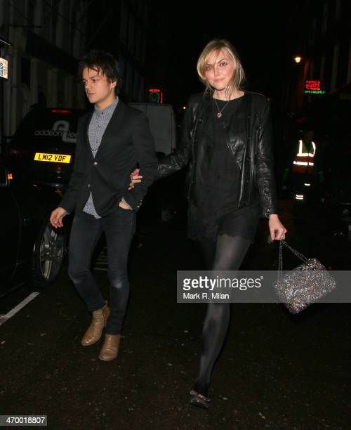Jamie Cullam and Sophie Dahl at Ronnie Scott's for a Prince live show on February 17 2014 in London England
