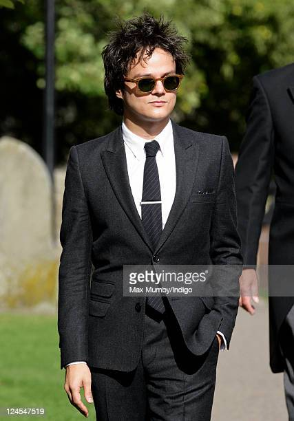 Jamie Cullam attends the wedding of Ben Elliot and MaryClare Winwood at the church of St Peter and St Paul Northleach on September 10 2011 in...