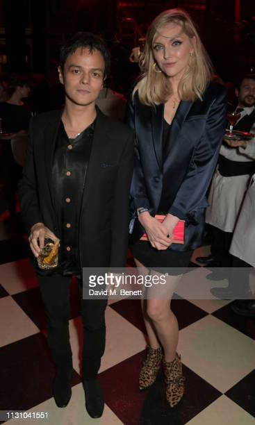 Jamie Cullum and Sophie Dahl attend the Universal Music BRIT Awards After-Party 2019 hosted by Soho House and BACARDI rum at The Ned on February 20,...