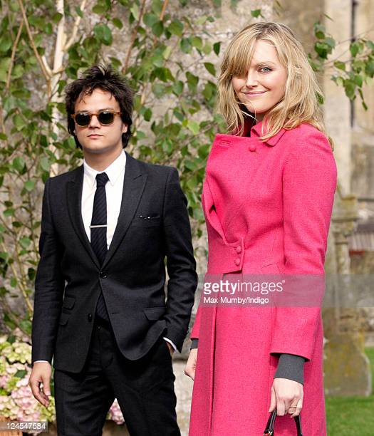 Jamie Cullum and Sophie Dahl attend the wedding of Ben Elliot and MaryClare Winwood at the church of St Peter and St Paul Northleach on September 10...