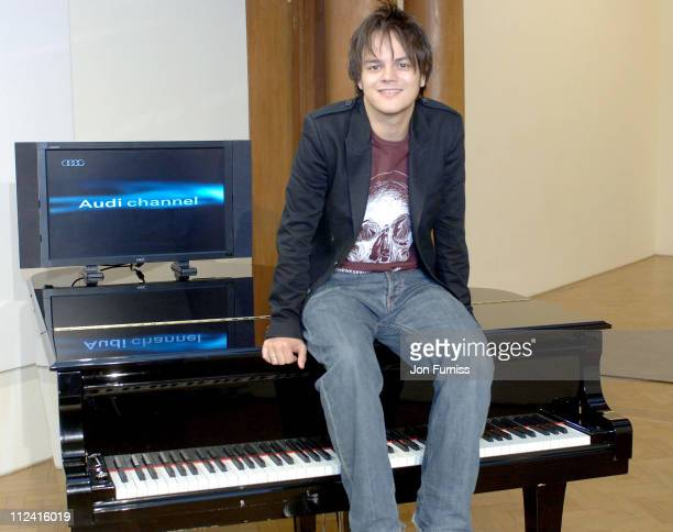 Jamie Cullum during Audi TV Launch Photocall at Saatchi Gallery in London Great Britain