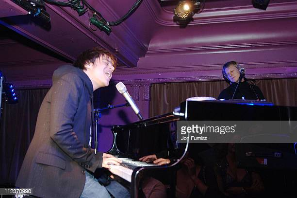Jamie Cullum during Jamie Cullum Performance for Capital FM in London December 11 2005 at 10 club in London United Kingdom