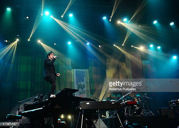 Jamie Cullum performs in the 10th Year Edition of Jakarta International Java Jazz Festival 2014 at JIExpo Kemayoran on February 28 2014 in Jakarta...