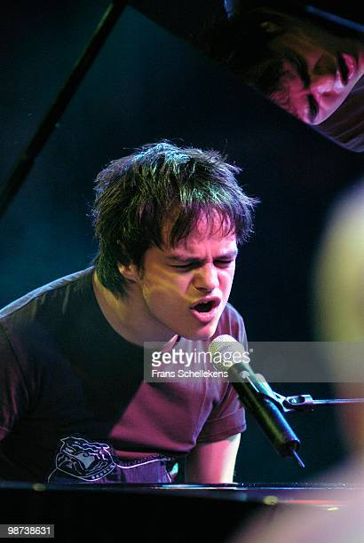 Jamie Cullum performs live on stage at the North Sea Jazz Festival in the Hague, Holland on July 10 2004