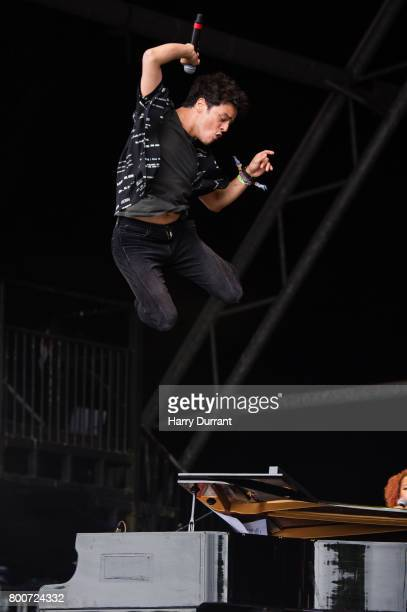 Jamie Cullum performs on The Pyramid Stage on day 4 of the Glastonbury Festival 2017 at Worthy Farm Pilton on June 25 2017 in Glastonbury England
