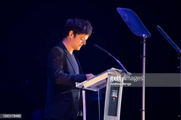 Jamie Cullum wins Best Music Presenter Award at the Audio and Radio Industry Awards at First Direct Arena Leeds on October 18 2018 in Leeds England