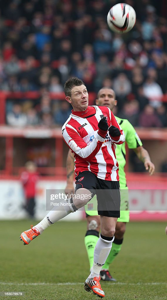Jamie Cureton of Exeter City in action during the npower League Two match between Exeter City and Northampton Town at St James's Park on March 2, 2013 in Exeter, England.