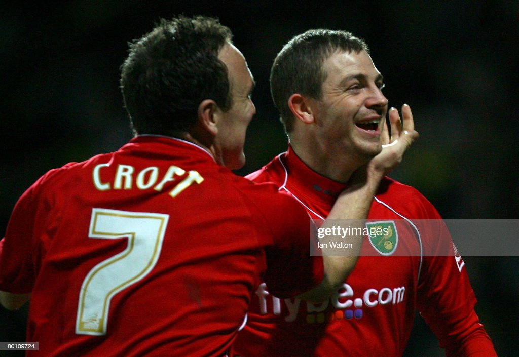 Jamie Cureton of Norwich City celebrates scoring a goal during the Coca Cola Championship match between Watford and Norwich City at Vicarage Road on March 04, 2008 in Watford, England.