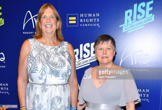 Jamie Dahlem and Judy Dahlem attend the Human Rights Campaign's 13th annual Las Vegas Gala at the Aria Resort Casino on May 12 2018 in Las Vegas...